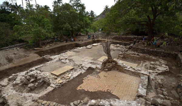 Escavação arqueologica
